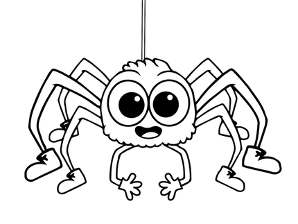 Printable spider coloring pages online for kids