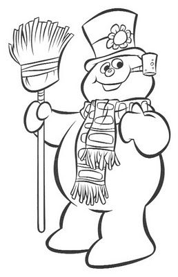 snowman colouring picture printable