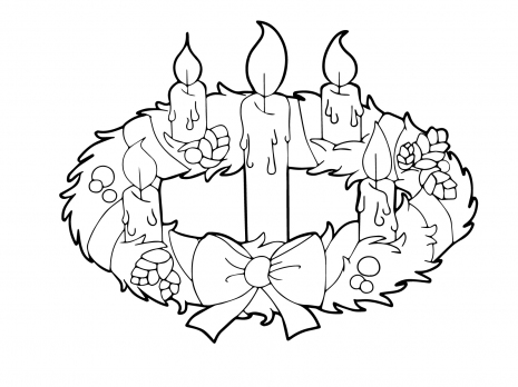 Printable advent wreath and candles coloring sheets