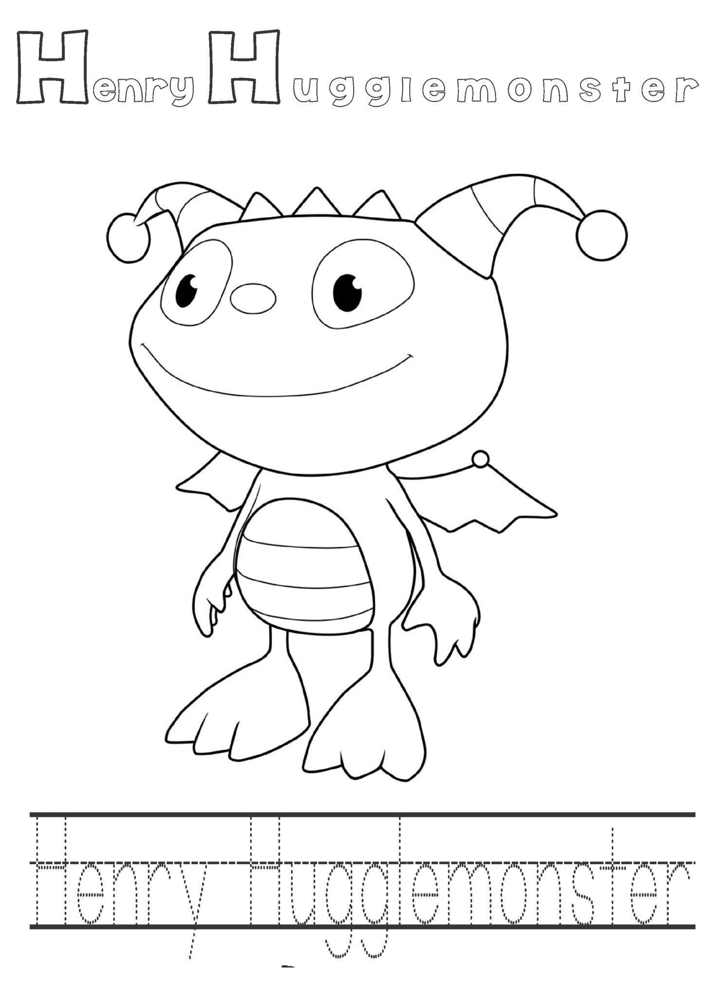 Worksheets Henry And Mudge Worksheets henry hugglemoster printable coloring pages kids pages