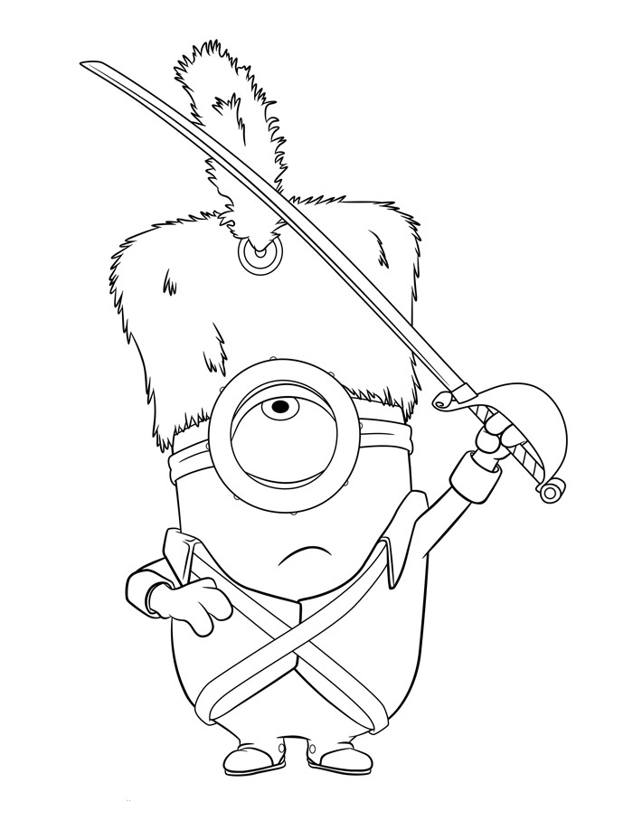 minions stuart coloring pages