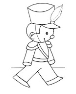 Printable Christmas Coloring Pages toy soldier