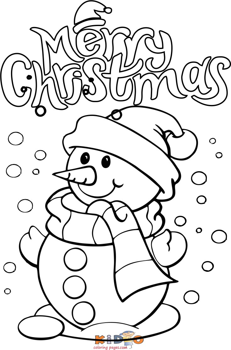 Printable christmas snowman coloring pages for preschool