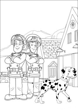 Printable fireman sam coloring pages