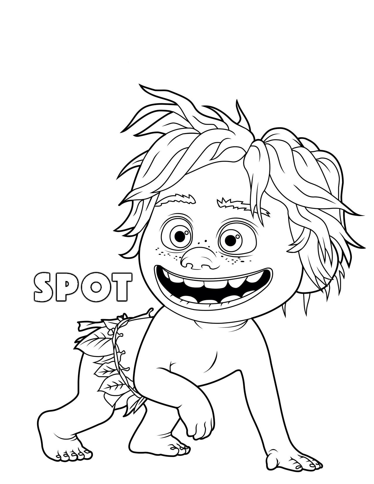 printable the good dinosaur spot coloring pages for kids kids