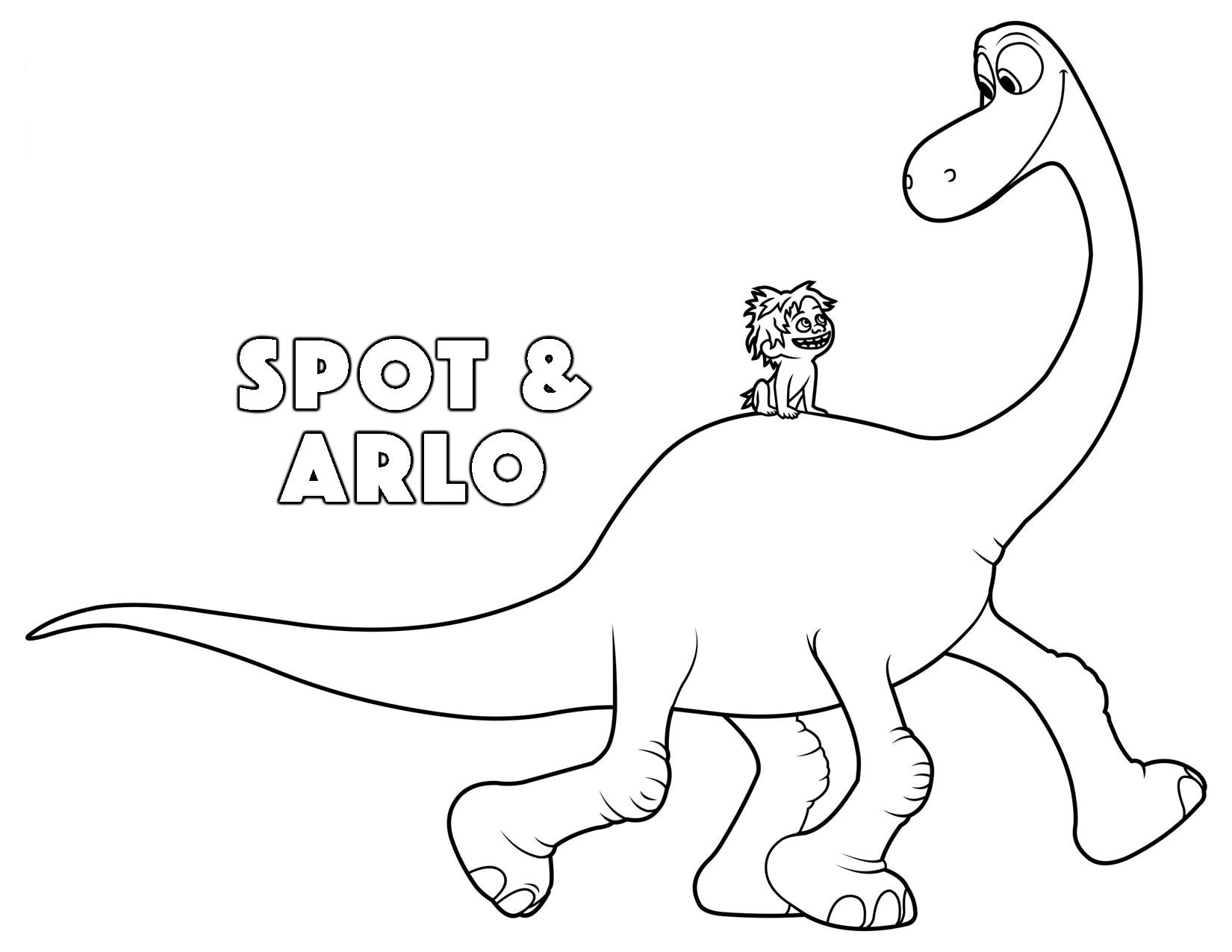 the good dinosaur arlo and spot coloring pages Kids Coloring Pages