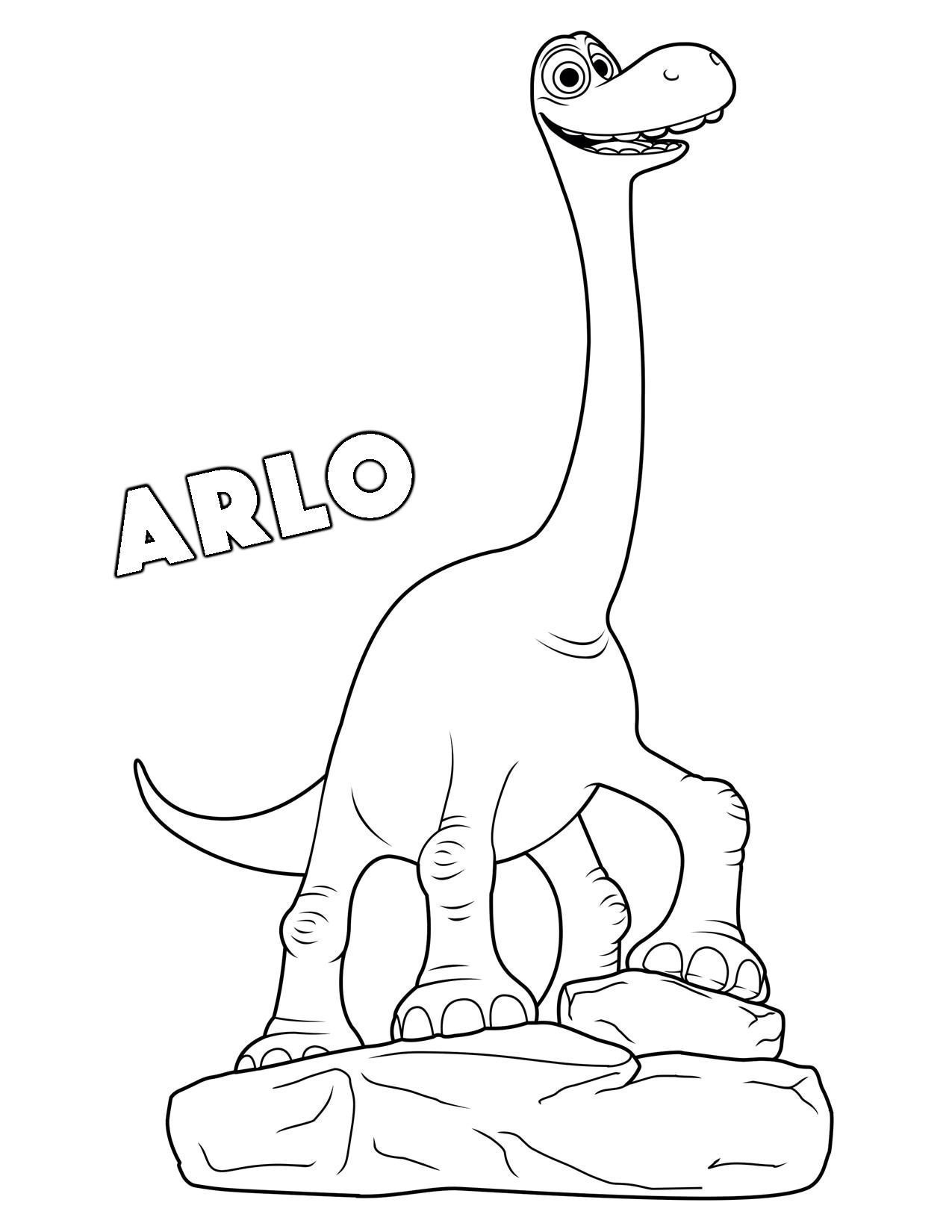 Printable the good dinosaur coloring pages