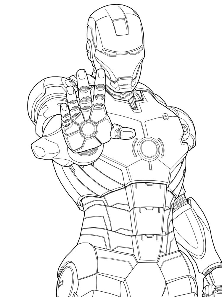 Printable Iron man coloring pages for kids