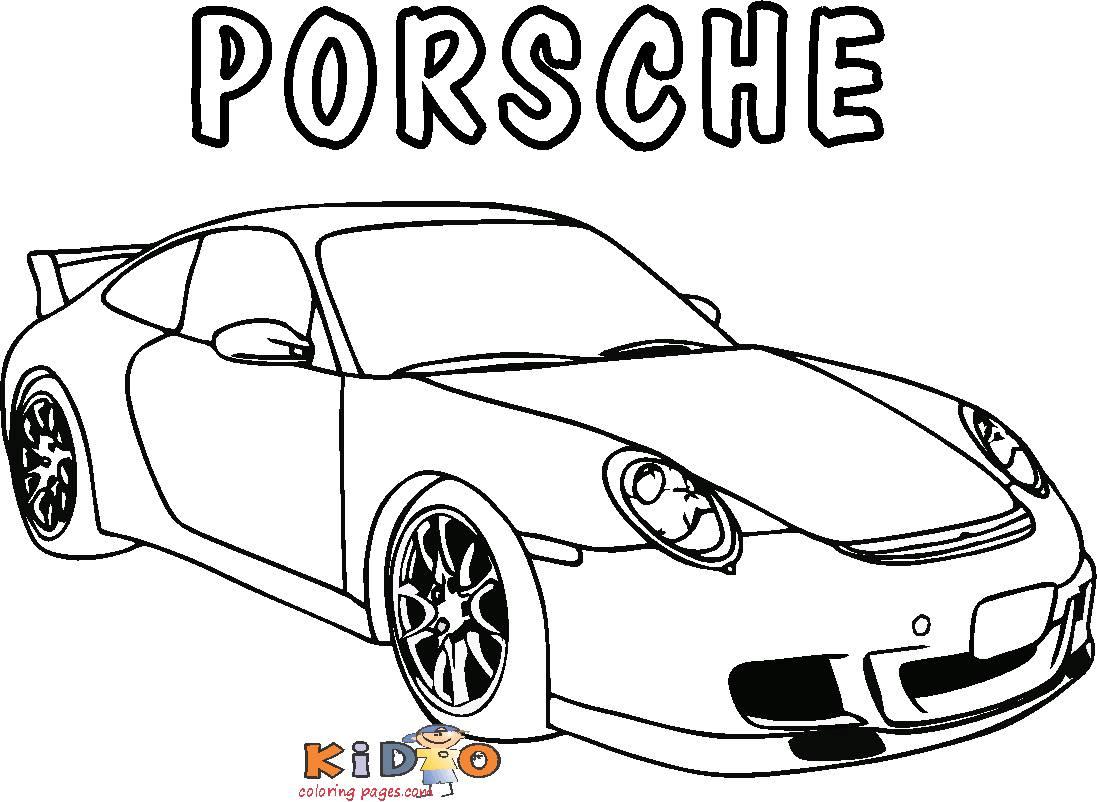 sports car porsche coloring pages printable