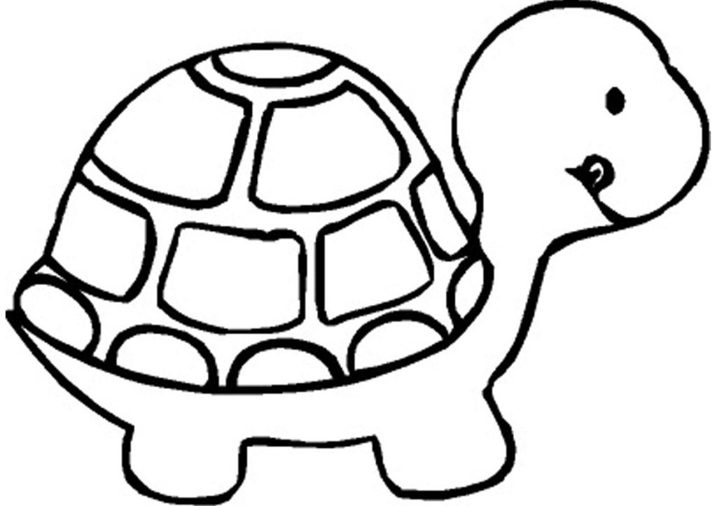 Printable turtle coloring page