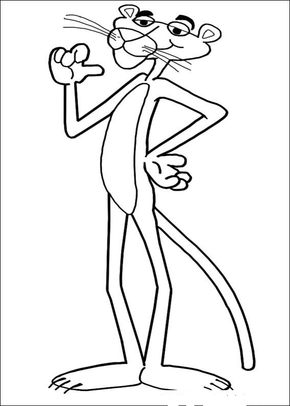pink panther coloring pages
