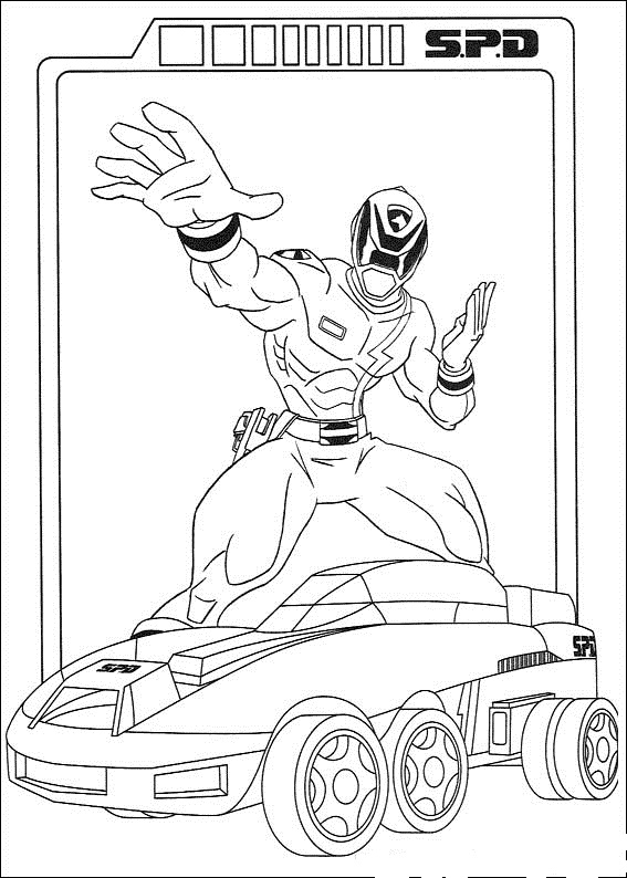 Printable powerrangers coloring pages