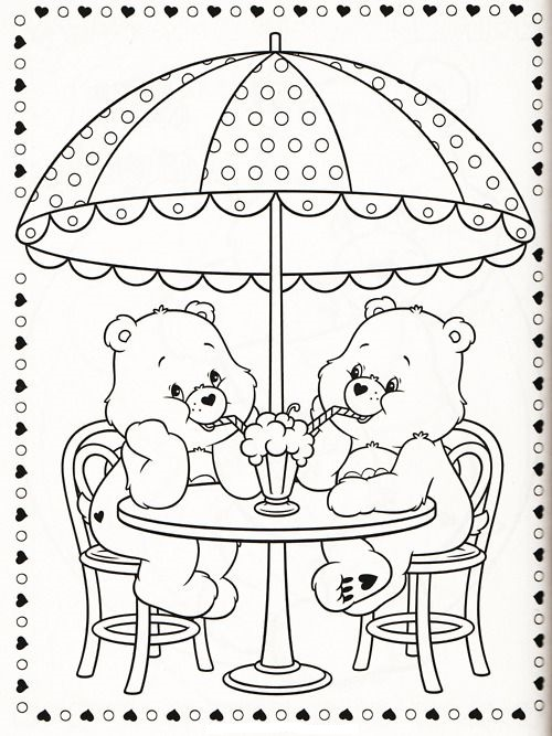 print out care bears coloring pages for kids
