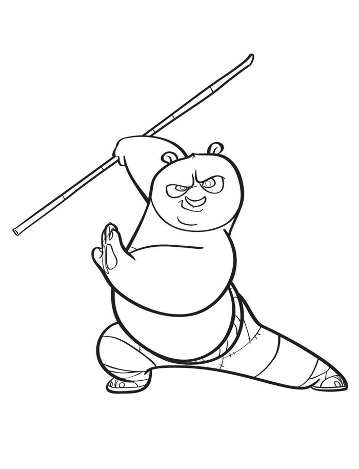 Print outs kung fu panda coloring pages