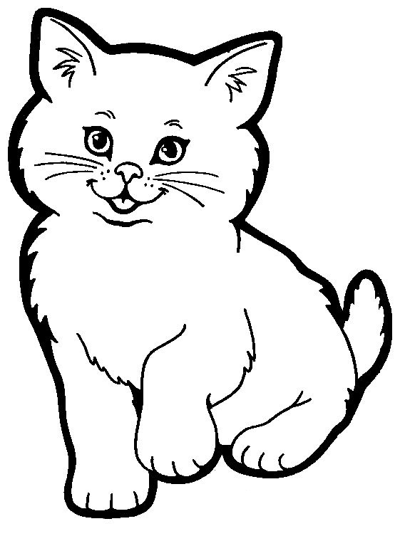 Animal Cat printable coloring pages