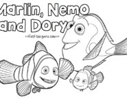 print out finding dory movie coloring pages for kids