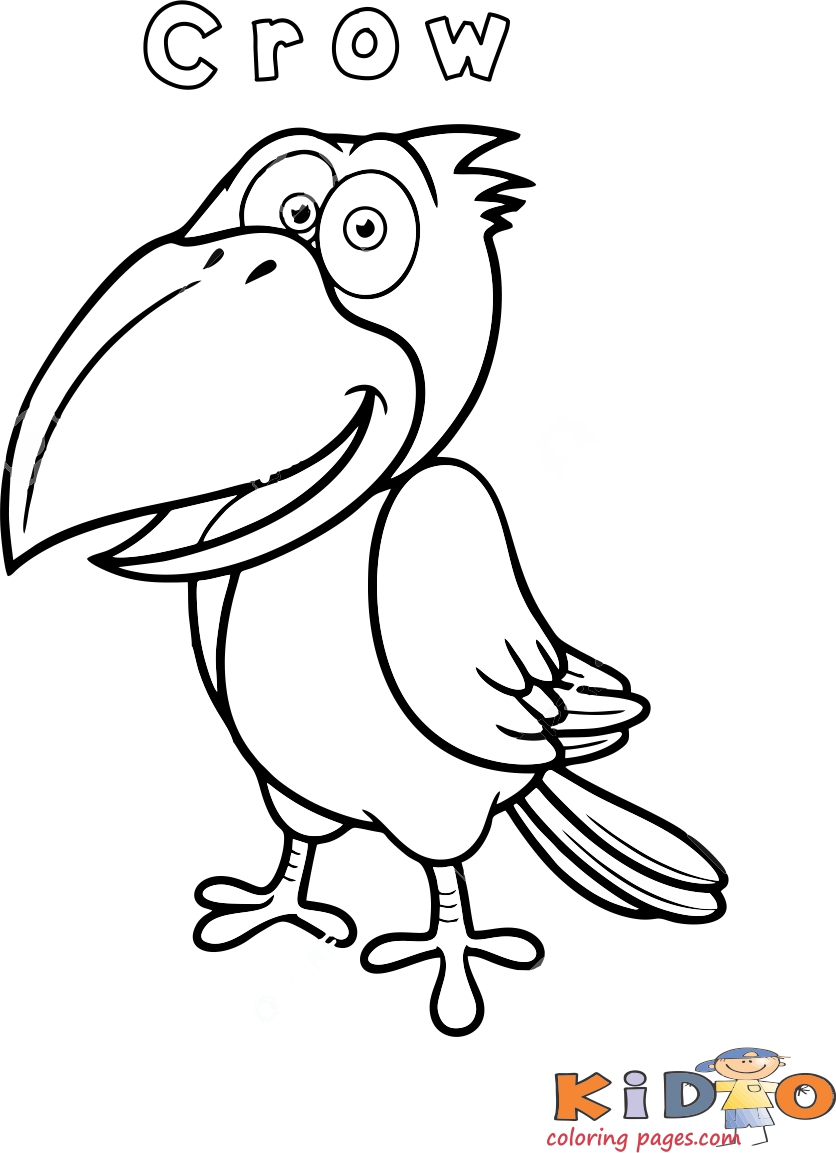 Crow bird coloring page Printable