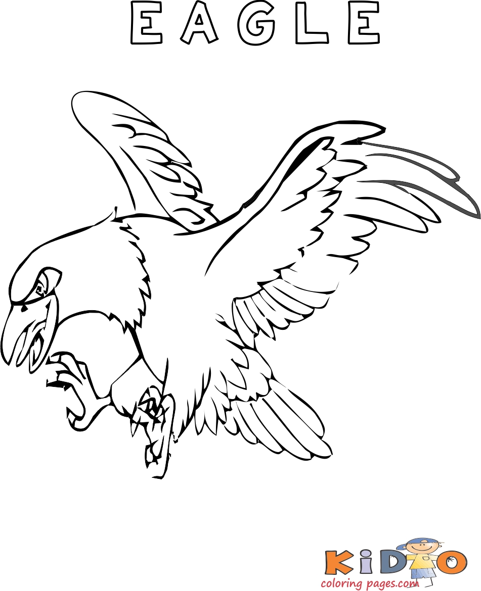 Eagle bird coloring pages printable