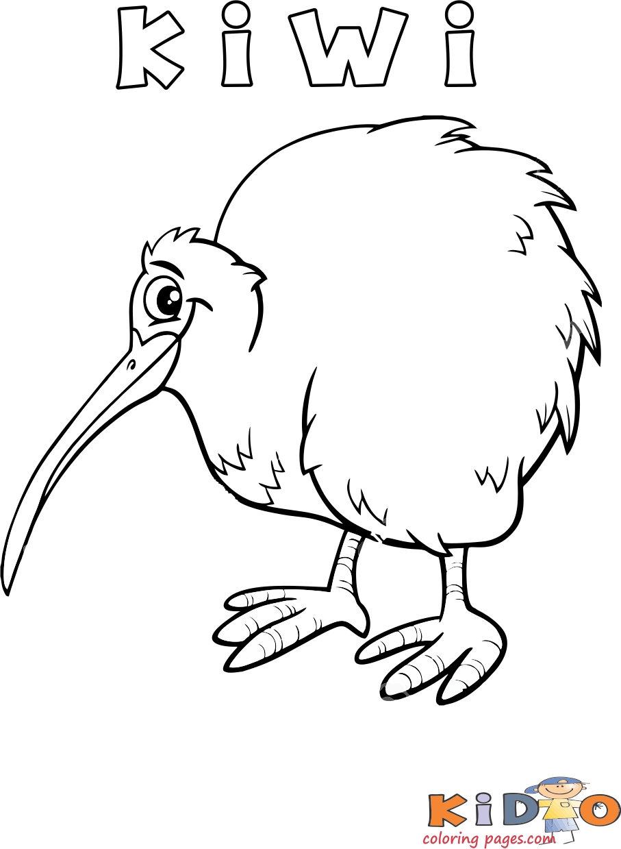 Kiwi bird coloring page printable