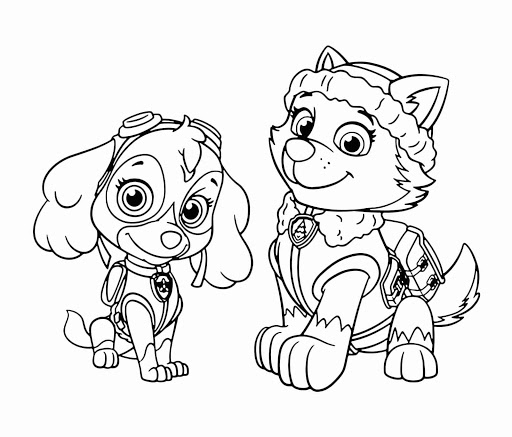 paw patrol printable coloring in pages
