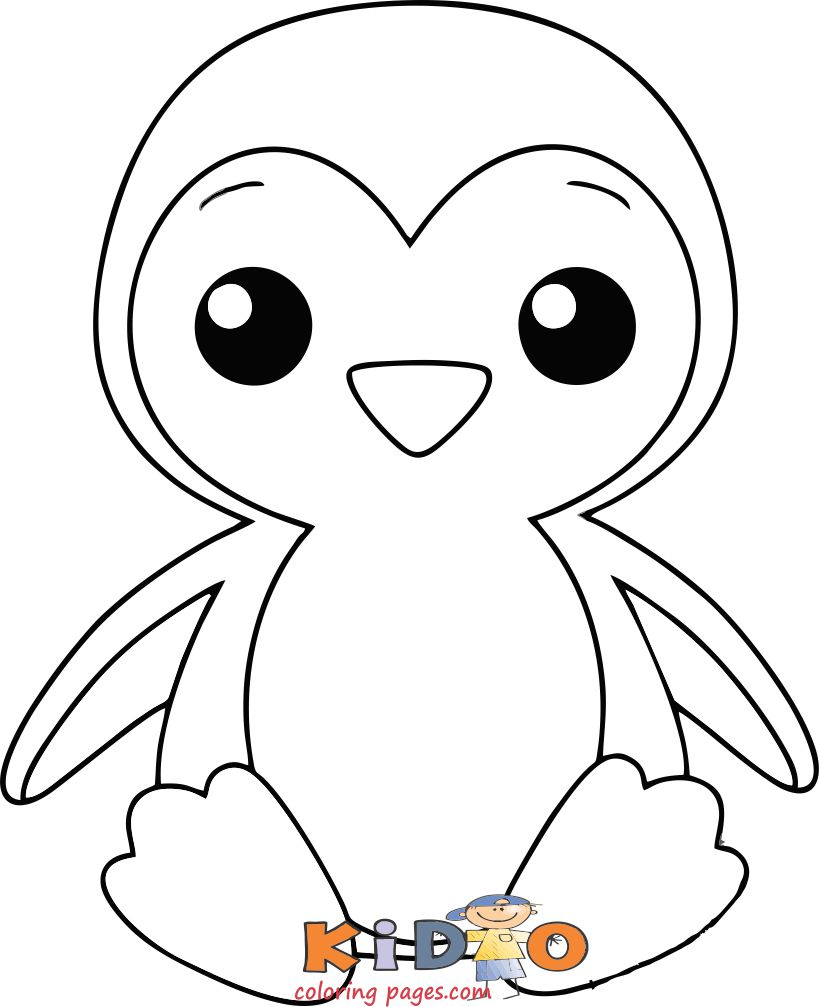 Print out Penguin coloring in page for kids
