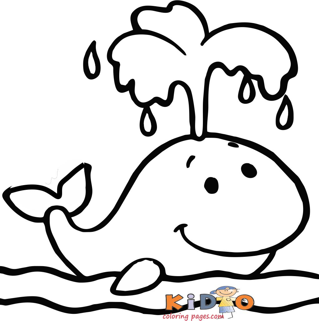 Whale colouring pages for kids