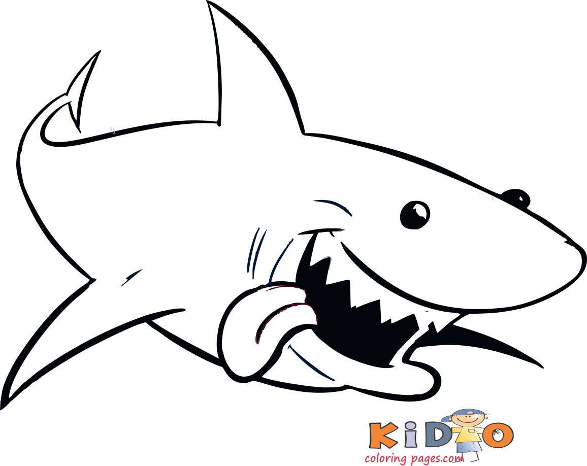 Sharks pages to color for kids
