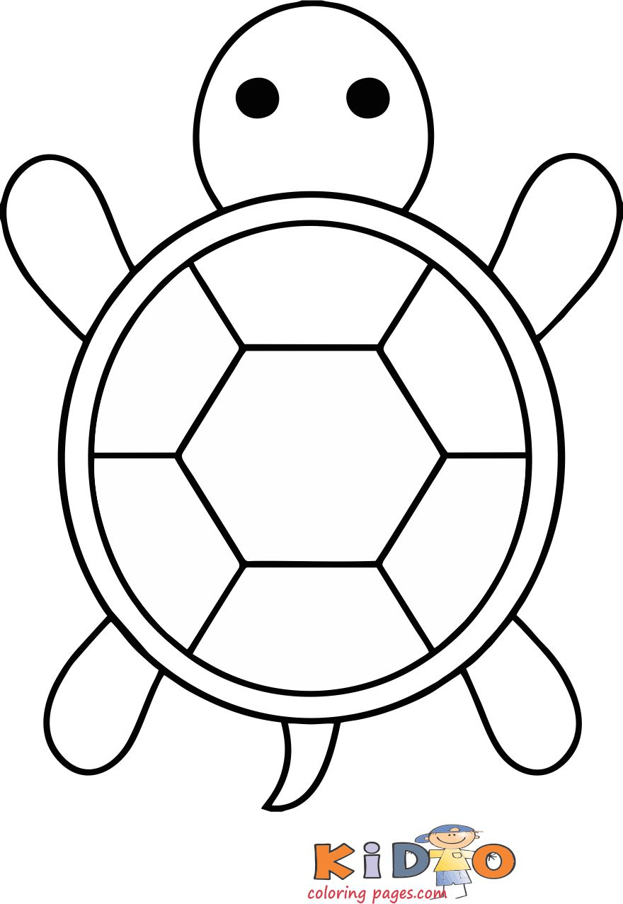 Sea turtle coloring in pages for kids