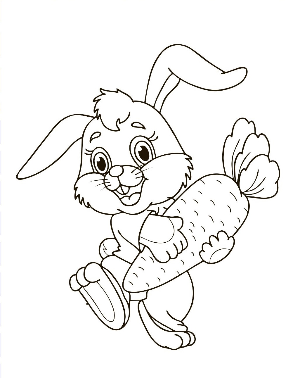 Easter bunny pages to color for free