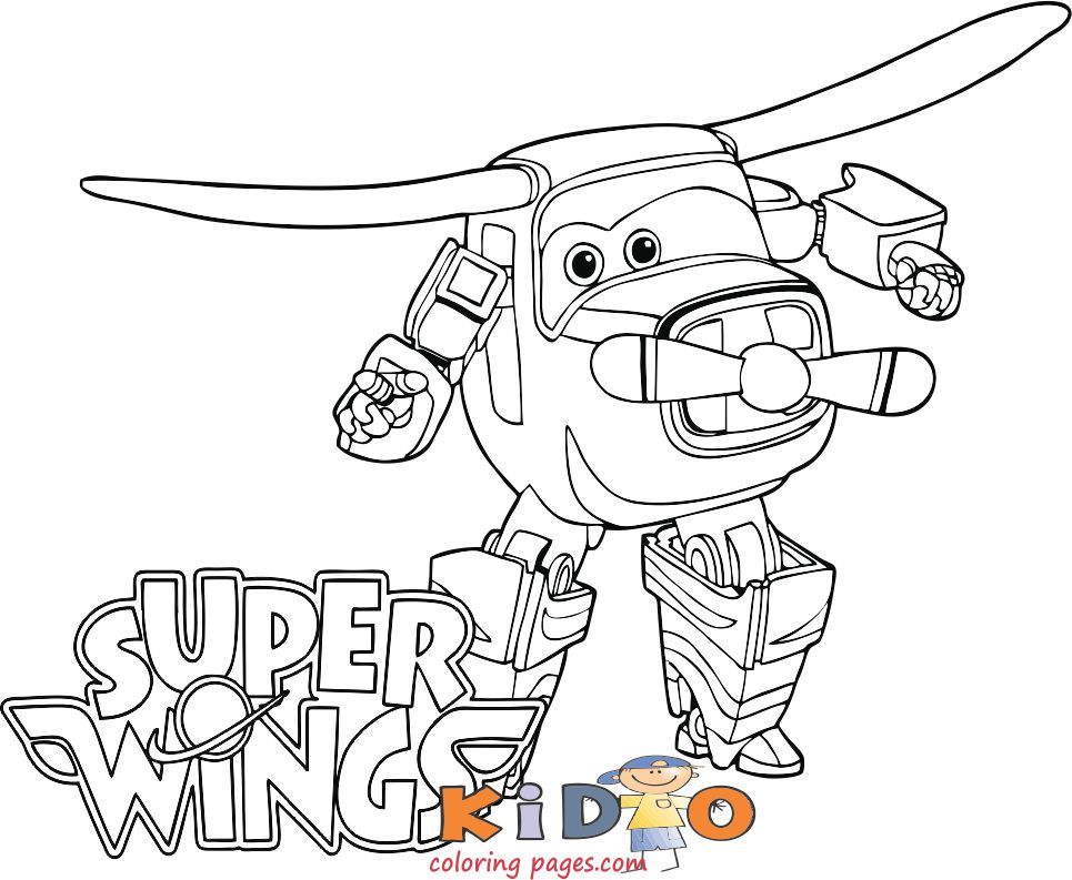 Bello super wings coloring pages for kids