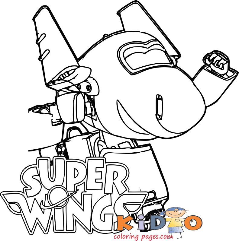 Chase super wings coloring pages for kids