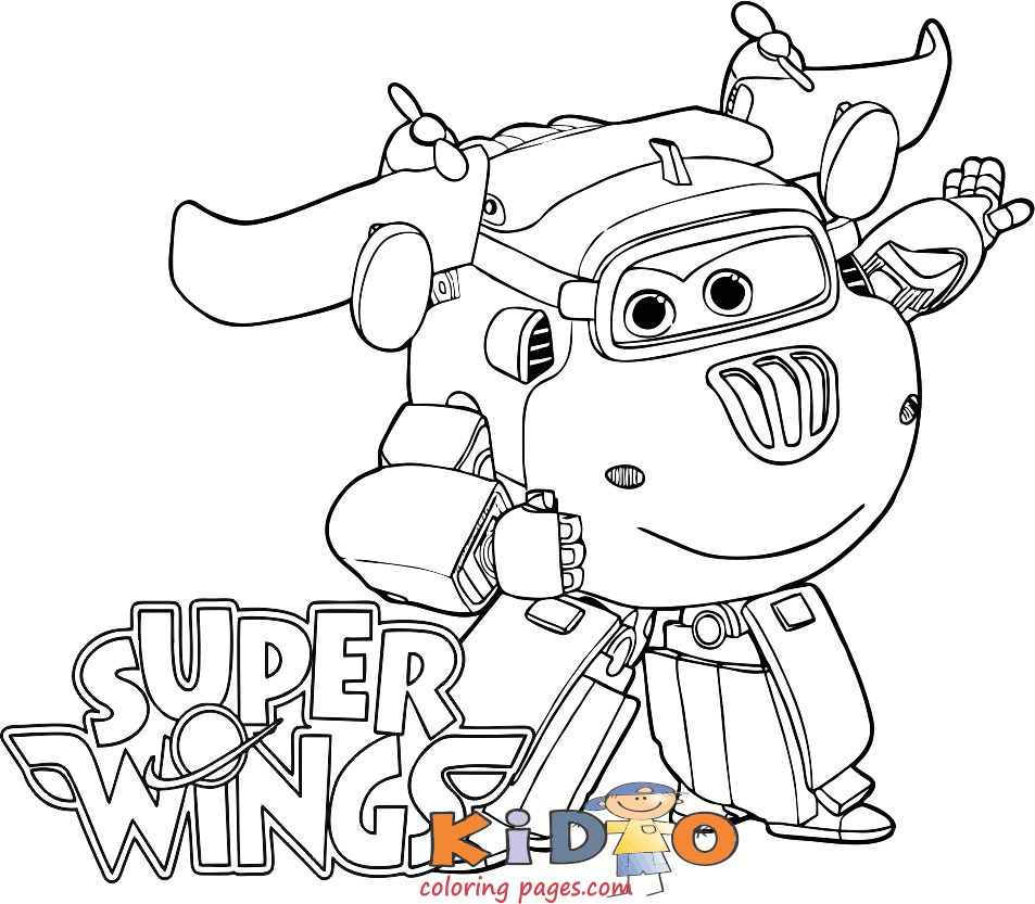 Super Wings Donnie coloring page printable