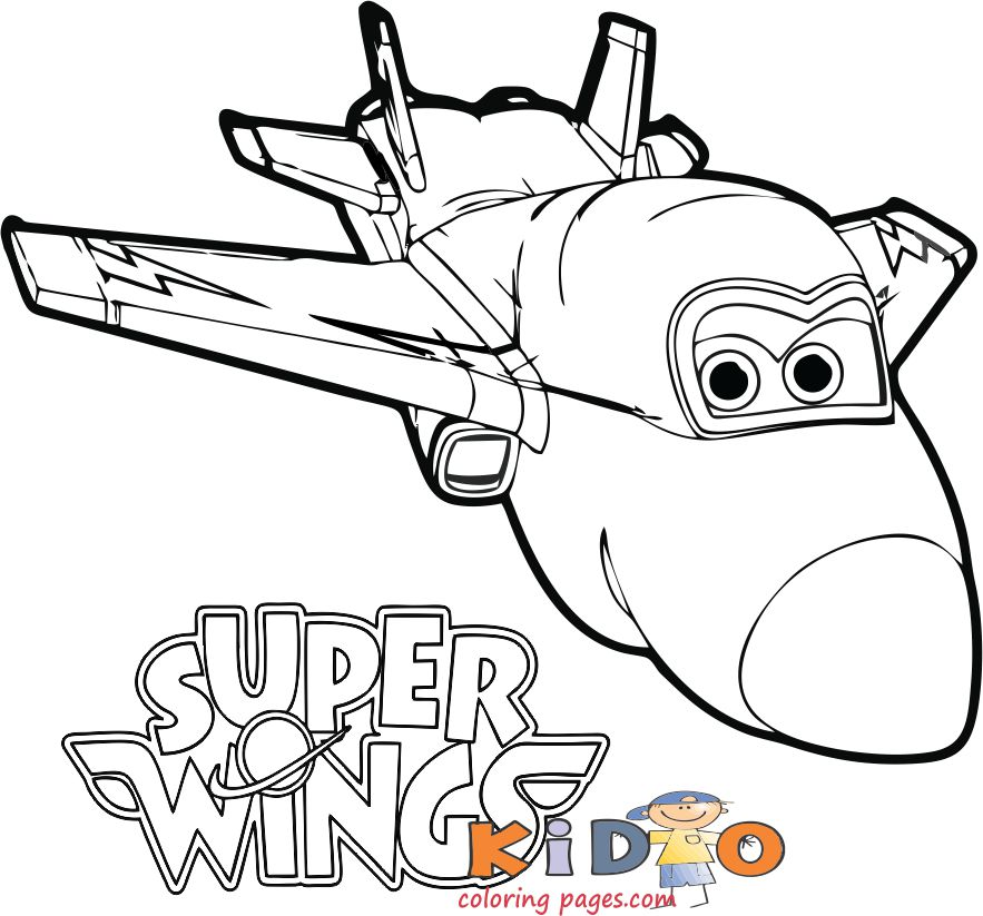 Super Wings Jerome coloring page printable