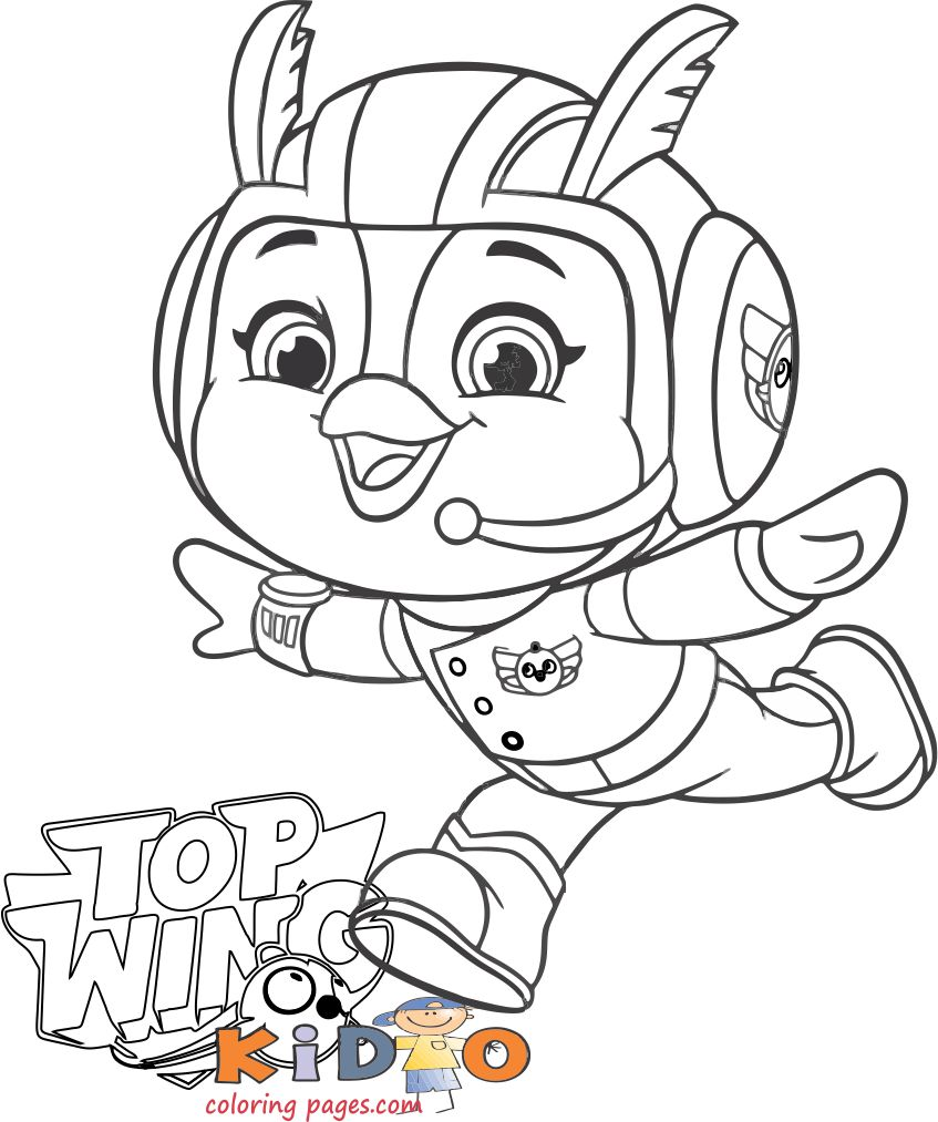 Brody coloring page top wingcoloring page top wing