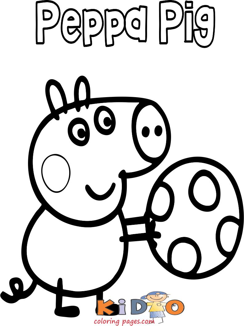 Peppa Pig football coloring pages