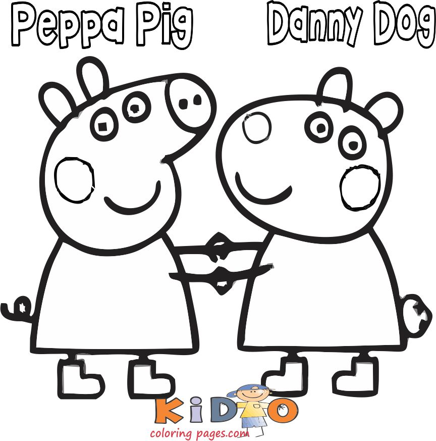 Printable Danny Dog coloring in pages for kids