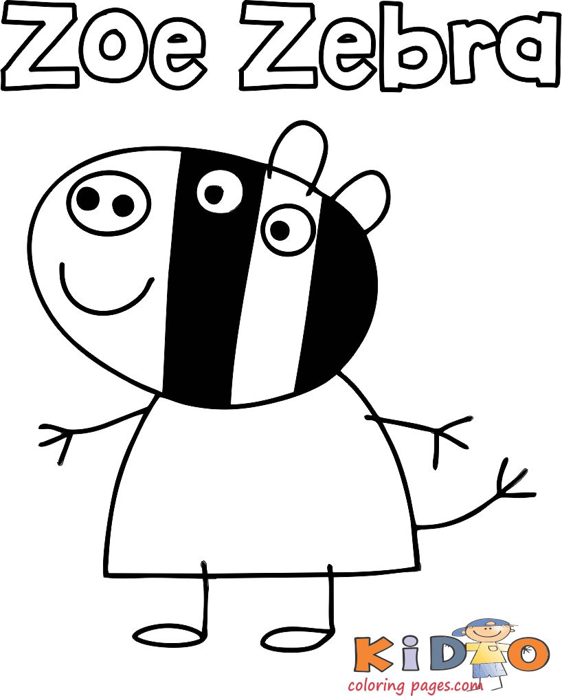Zoë Zebra coloring pages print out