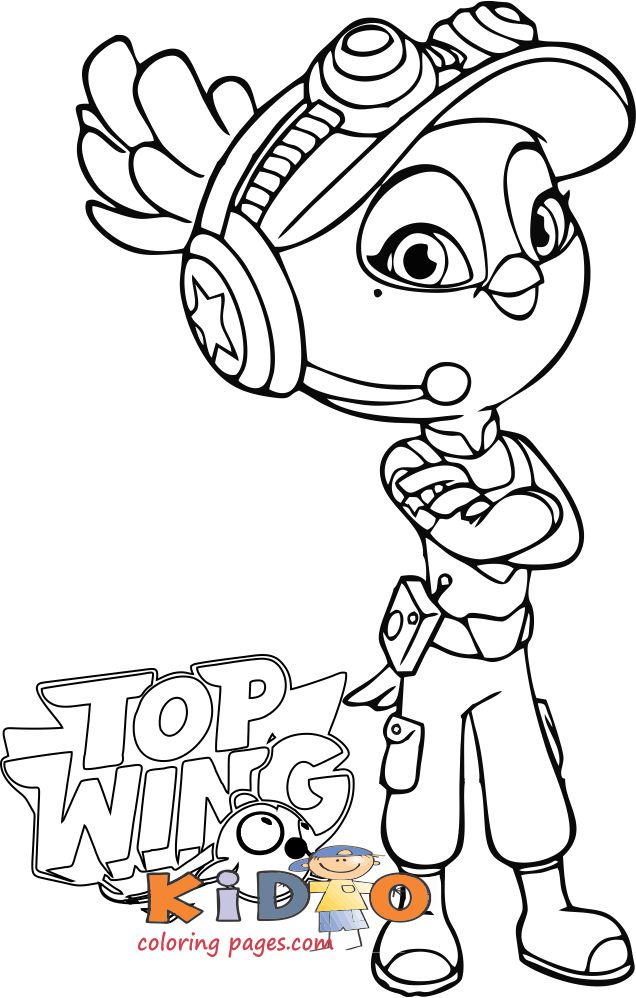 bea from top wing coloring pages printable