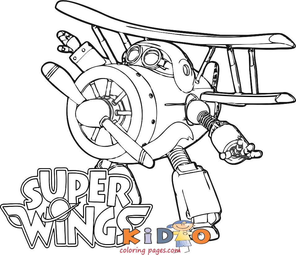 grand albert super wings coloring pages