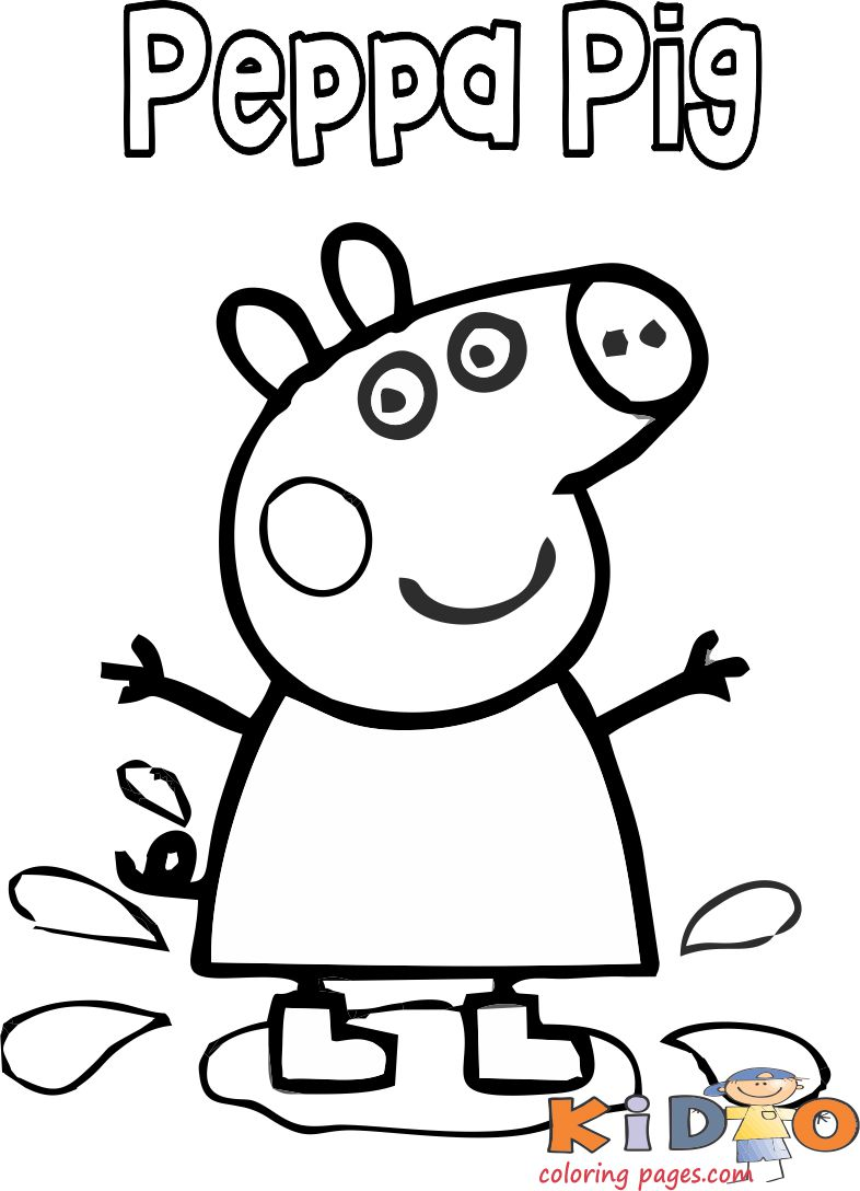 printable peppa pig plane coloring in pages for kids