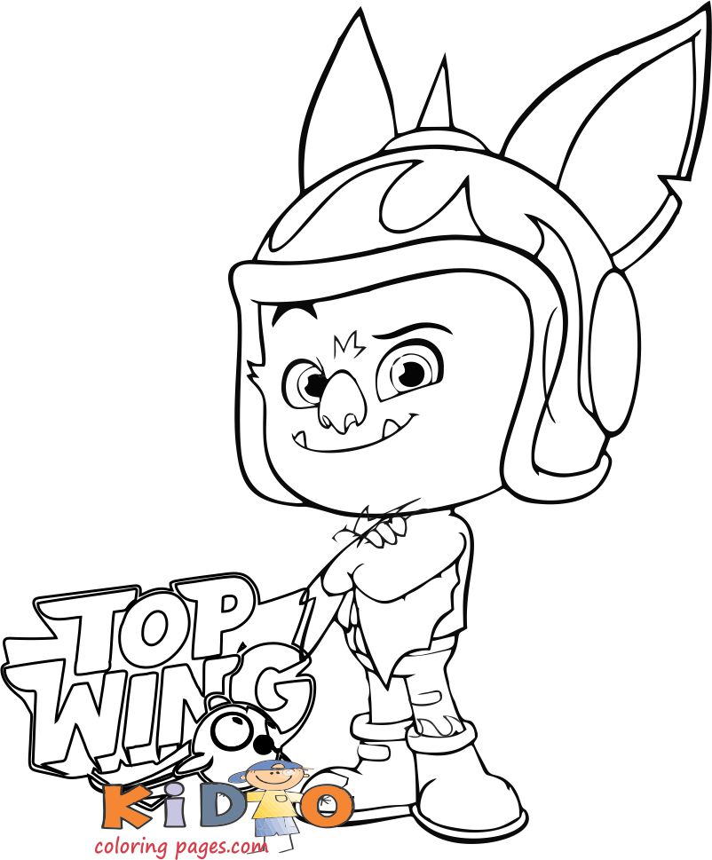 Top Wing baddy mcbat coloring book pages
