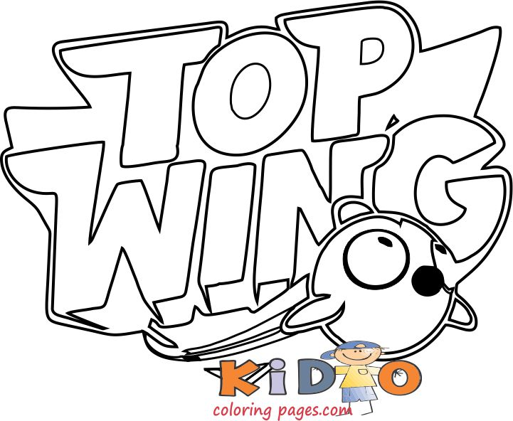 top wing lego coloring in pages