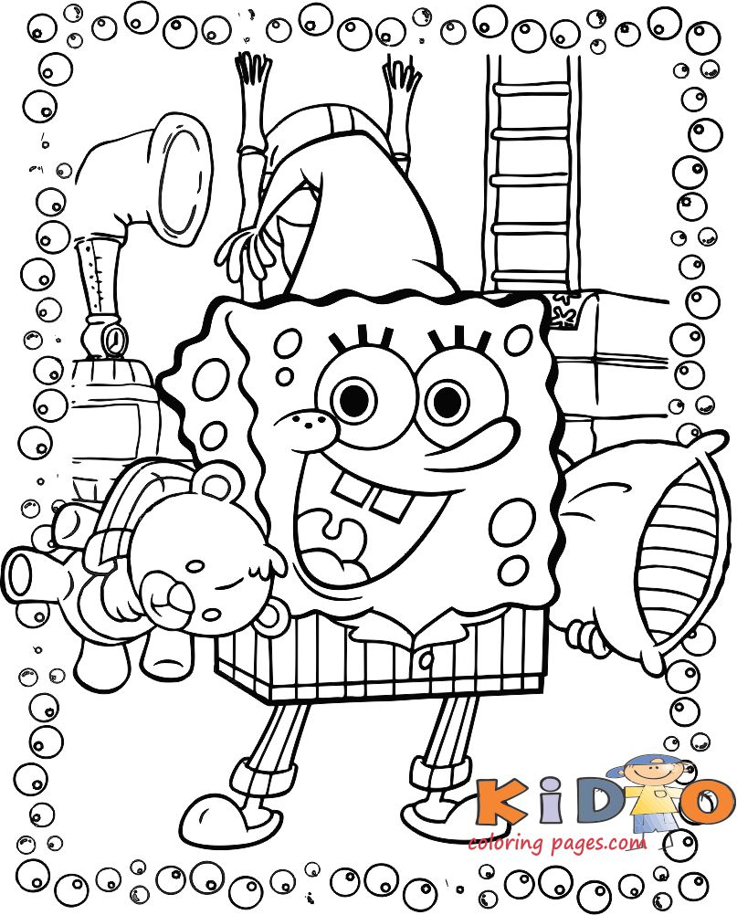 color pages of spongebob squarepants for kids