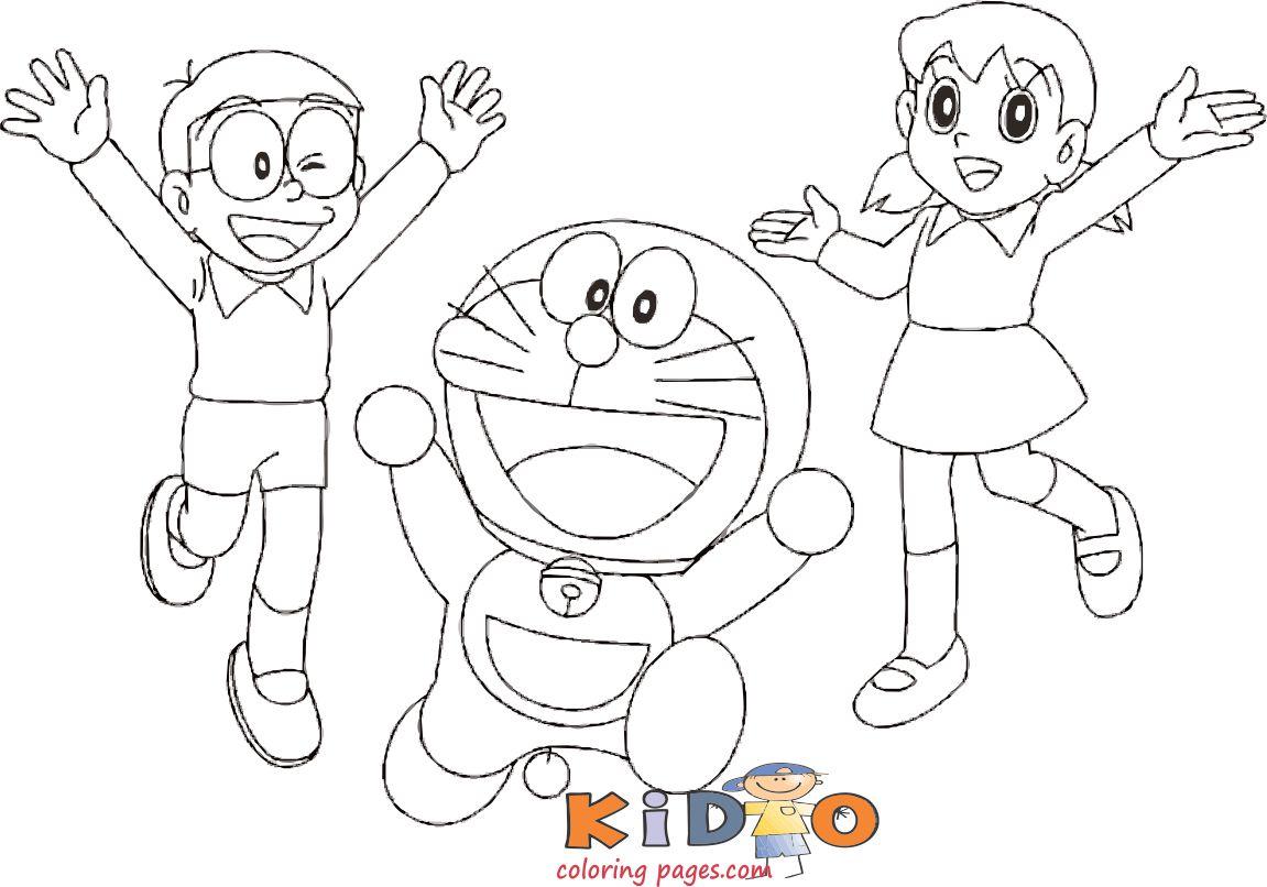 doraemon shizuka nobita coloring page to print