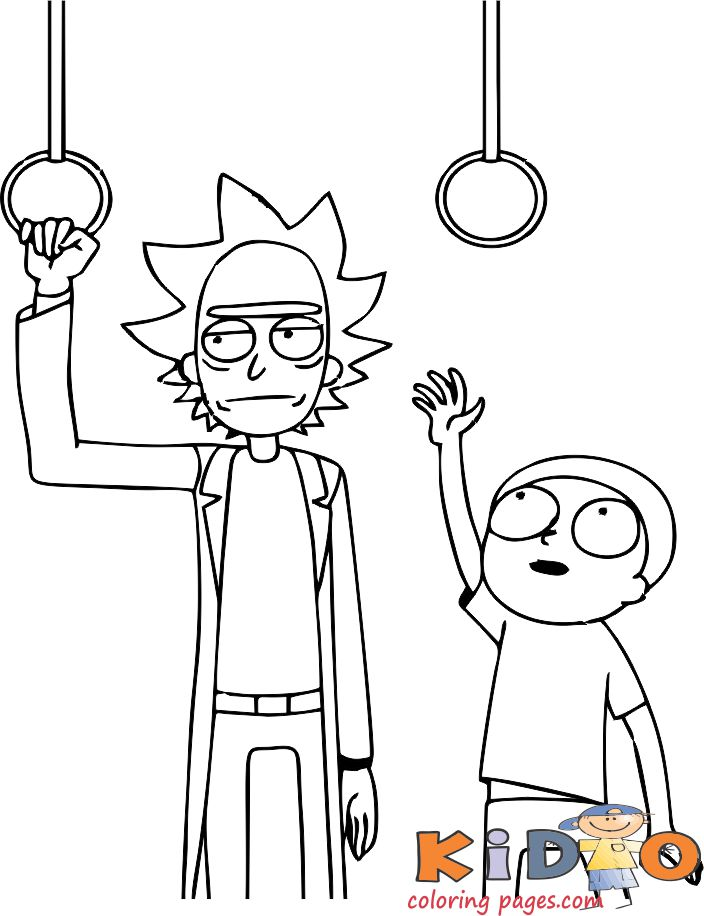 rick and morty printable coloring sheets