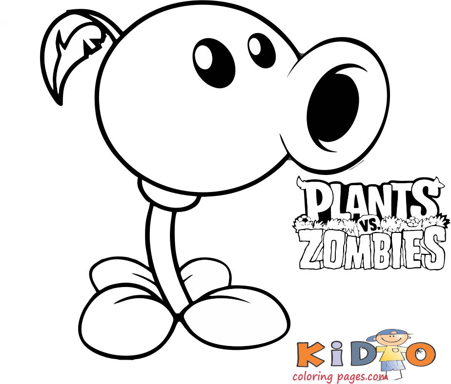 plants vs zombies 2 coloring pages peashooters