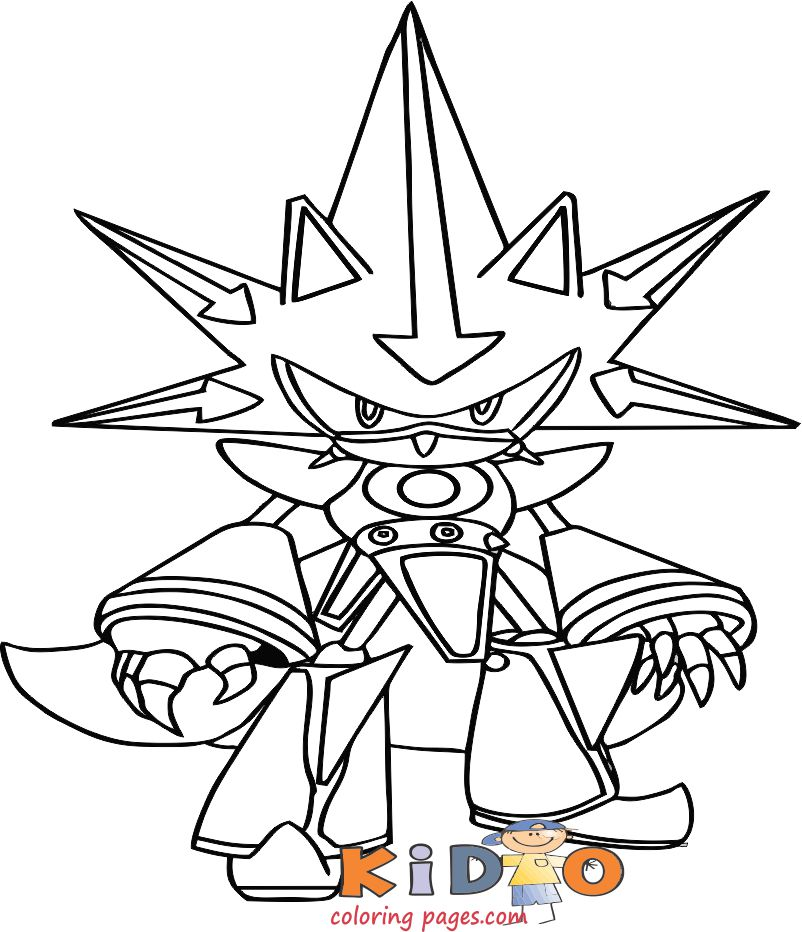 Metal Sonic coloring sheets printable