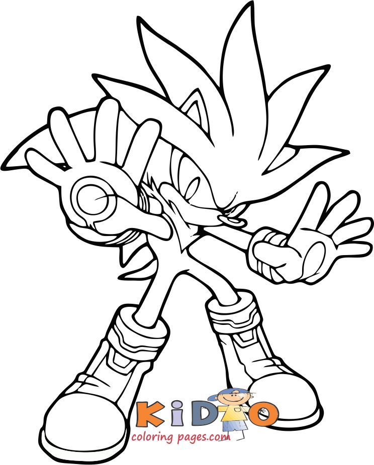 Silver Sonic Colouring Pages Printable Kids Coloring Pages