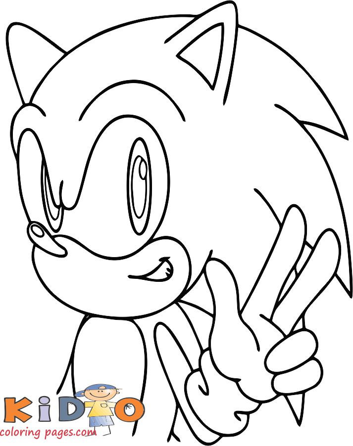 sonic picture to color kids coloring pages free