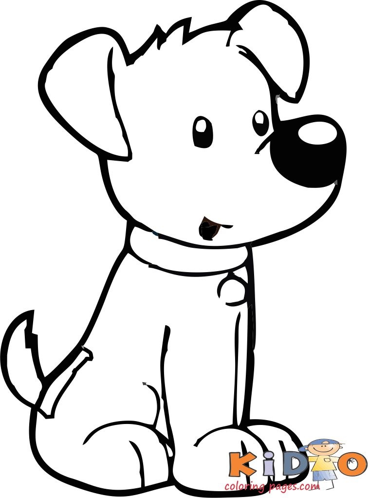Cute dog colouring sheets to print for kids